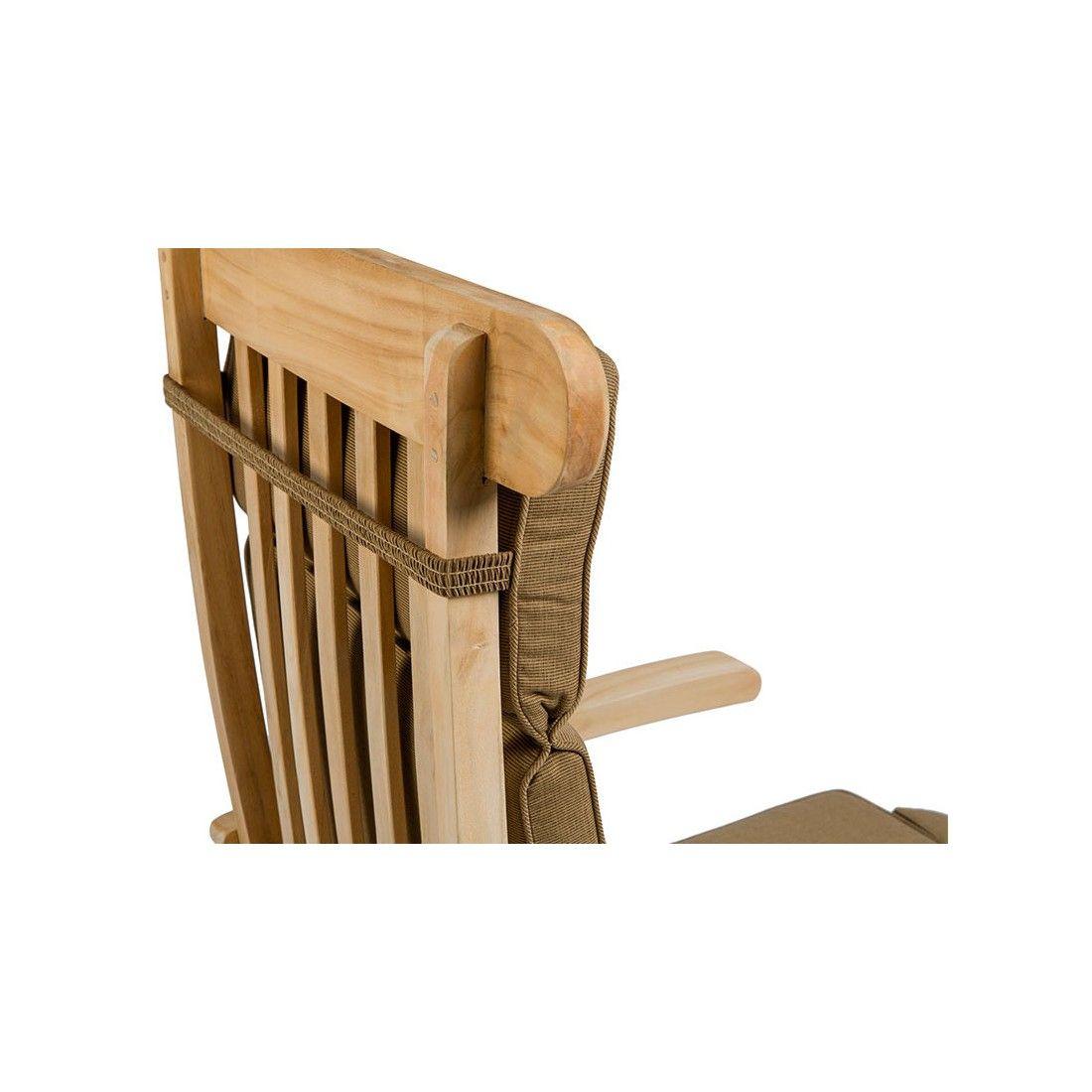 Coussin de chaise longue type steamer, ton camel