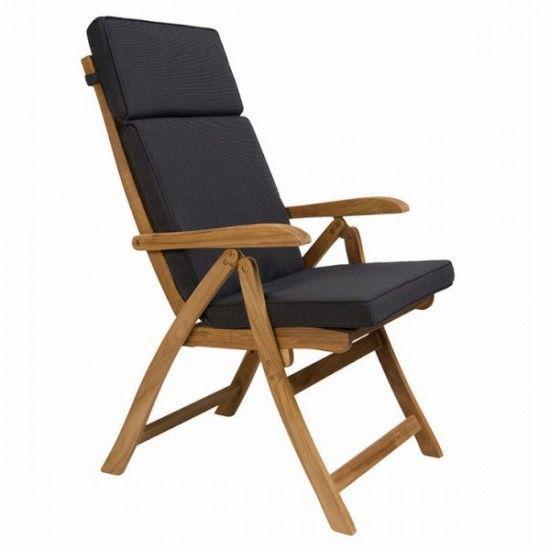 Coussin de chaise réglable, ton anthracite