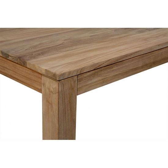 Table repas rectangulaire en teck massif 140 ou 120 cm, Exquise