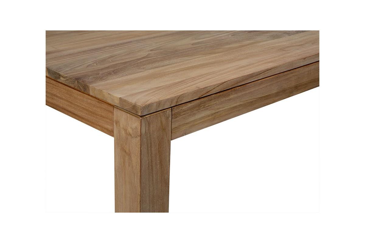 Table repas rectangulaire en teck massif de plantation - Table salle a manger teck ...
