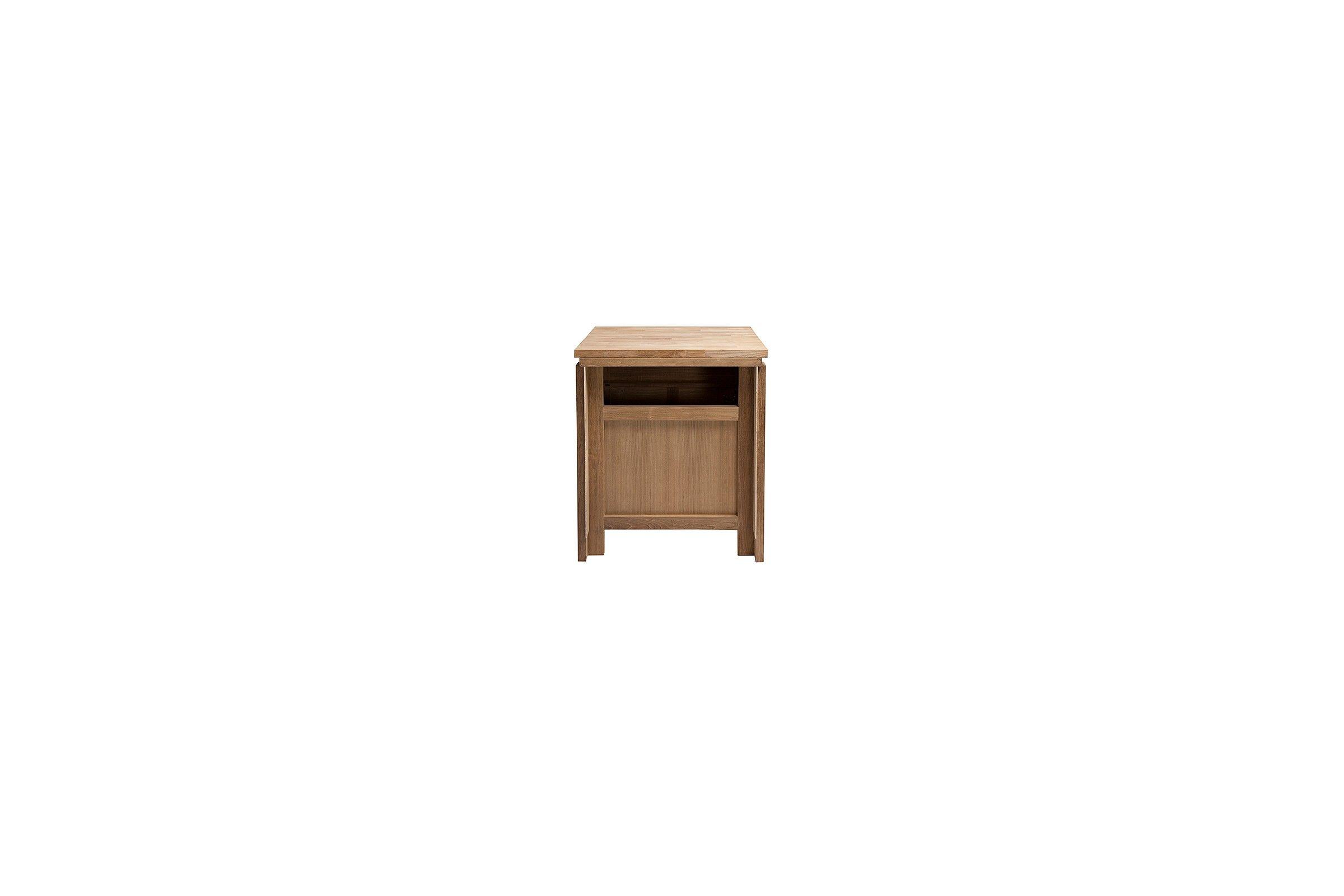 meuble vasque teck 65 cm plan de toilette bois ou pierre line art. Black Bedroom Furniture Sets. Home Design Ideas