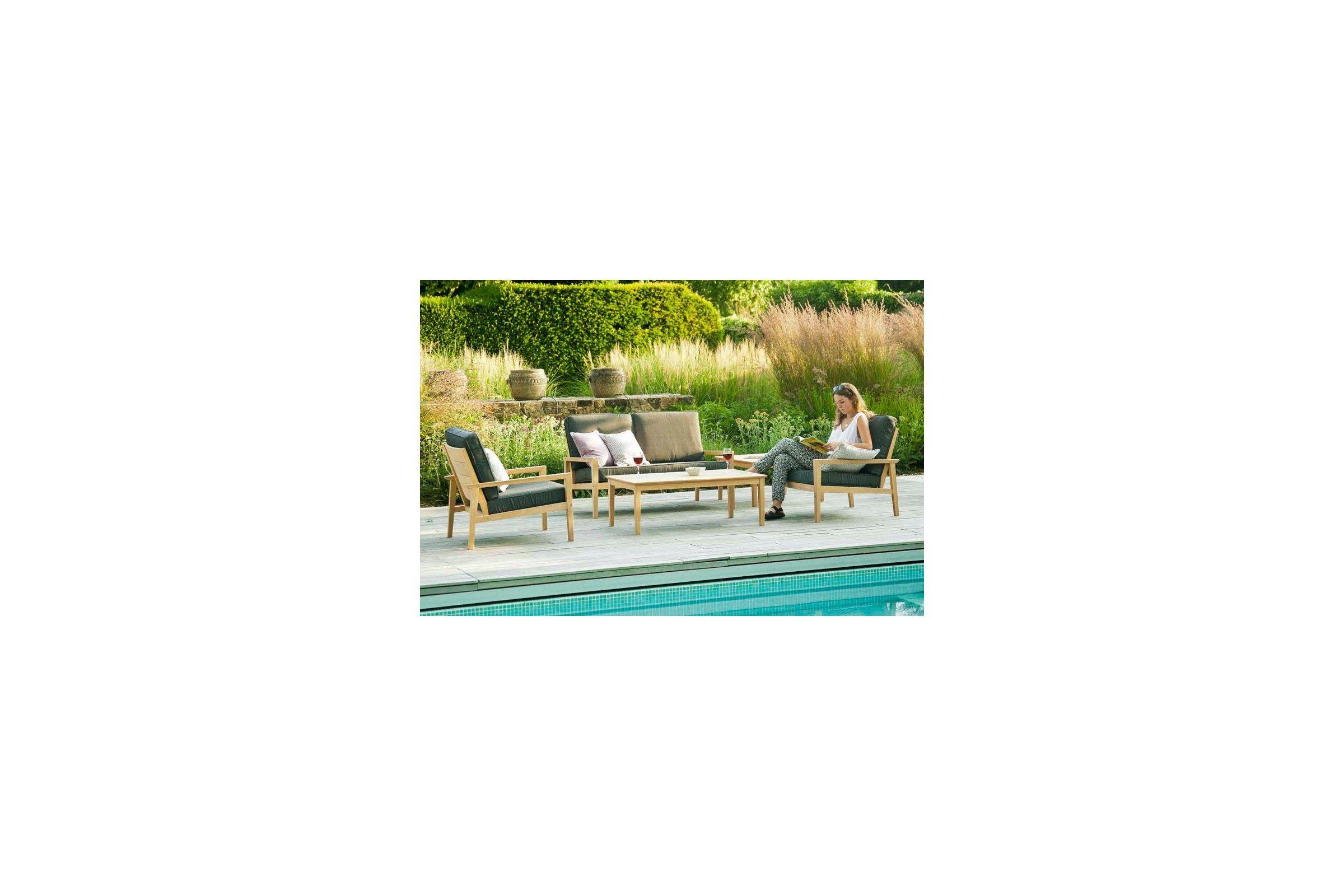 Table basse carrée en bois pour salon de jardin, haut de gamme ...