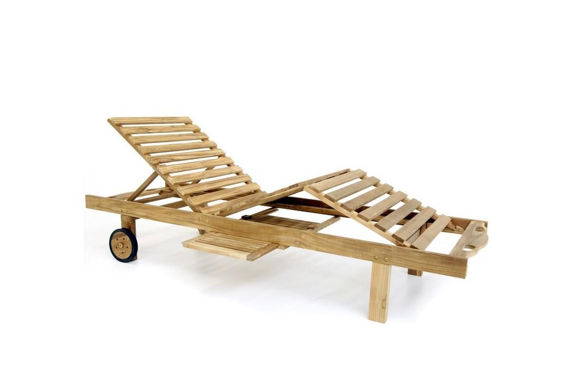bain de soleil en teck massif r glable confort plus la. Black Bedroom Furniture Sets. Home Design Ideas
