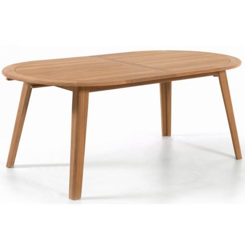 Table ovale en teck massif, 200 cm, York