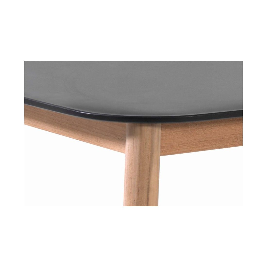 Table de jardin avec plateau en Duranite® et pieds en teck 213 cm