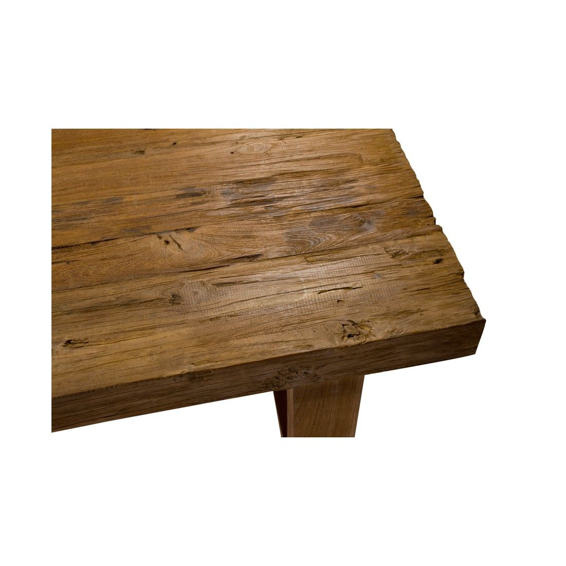 Table basse en teck ancien 130 cm