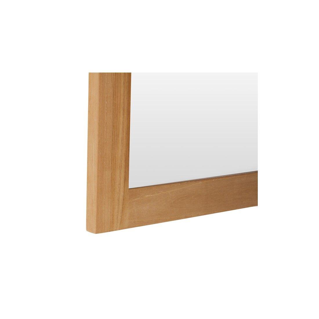 Miroir en teck massif brut by Line Art