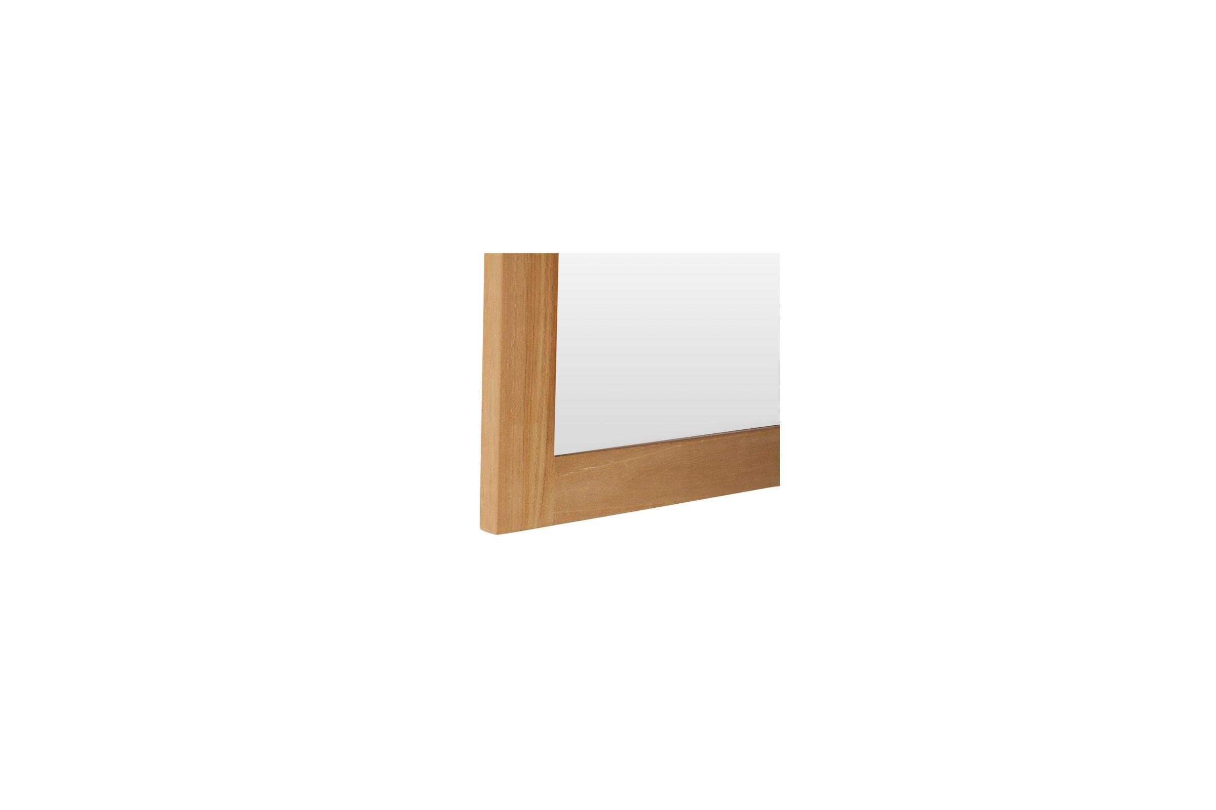 Miroir en teck massif brut by line art la galerie du teck for Miroir en bois brut