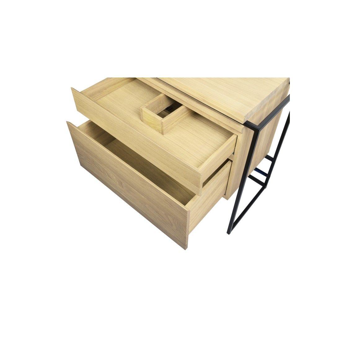 Meuble vasque en chêne avec tiroir style vintage