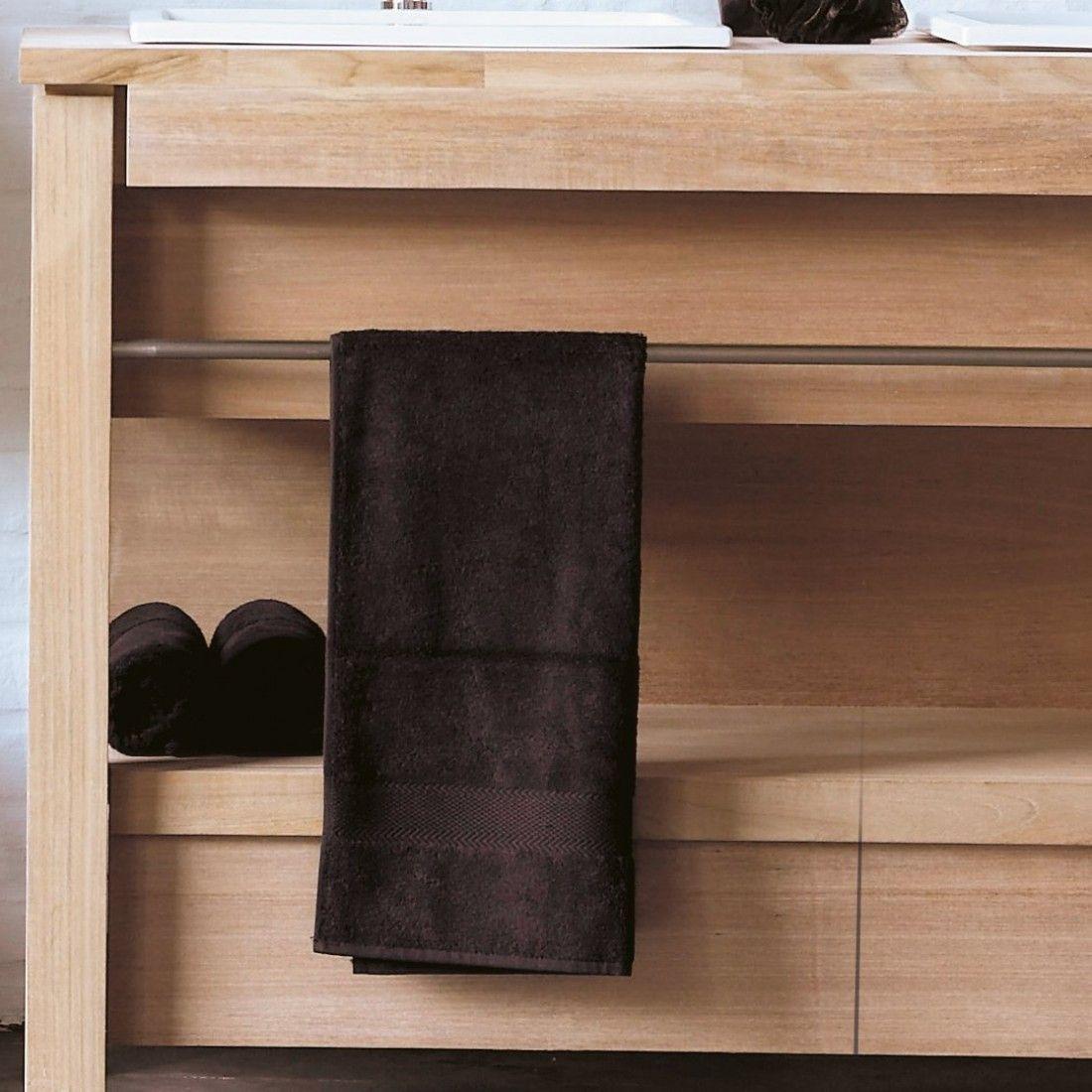 Meuble en teck massif 133 ou 165 cm pour 2 vasques à encastrer, Line Art