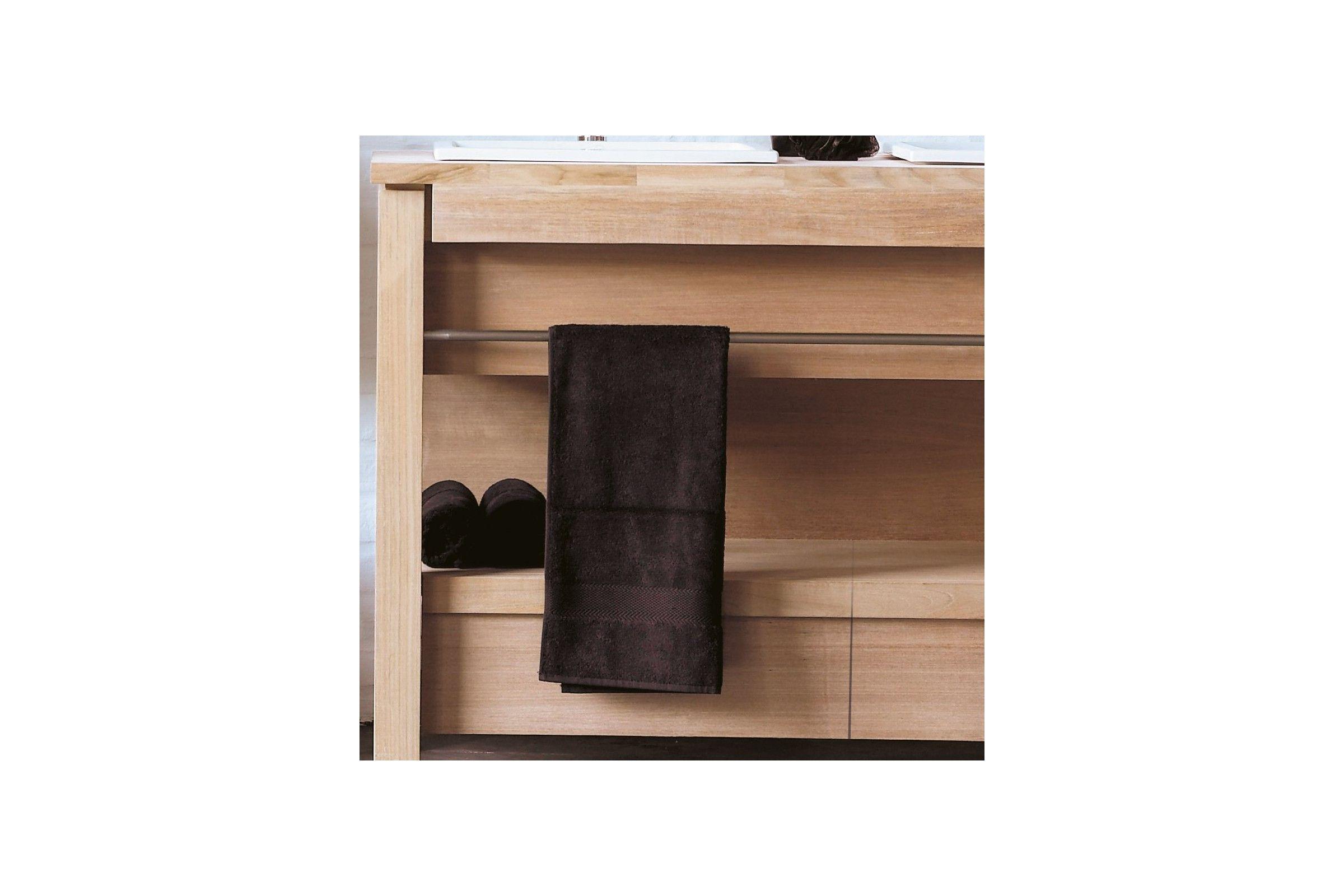 Meuble en teck massif 133 ou 165 cm pour 2 vasques encastrer line art la - Destockage meuble teck ...
