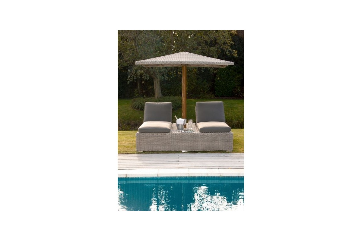 double bain de soleil avec parasol. Black Bedroom Furniture Sets. Home Design Ideas
