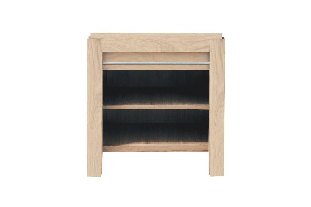 meuble vasque en ch ne massif avec une tag re 65 cm la. Black Bedroom Furniture Sets. Home Design Ideas