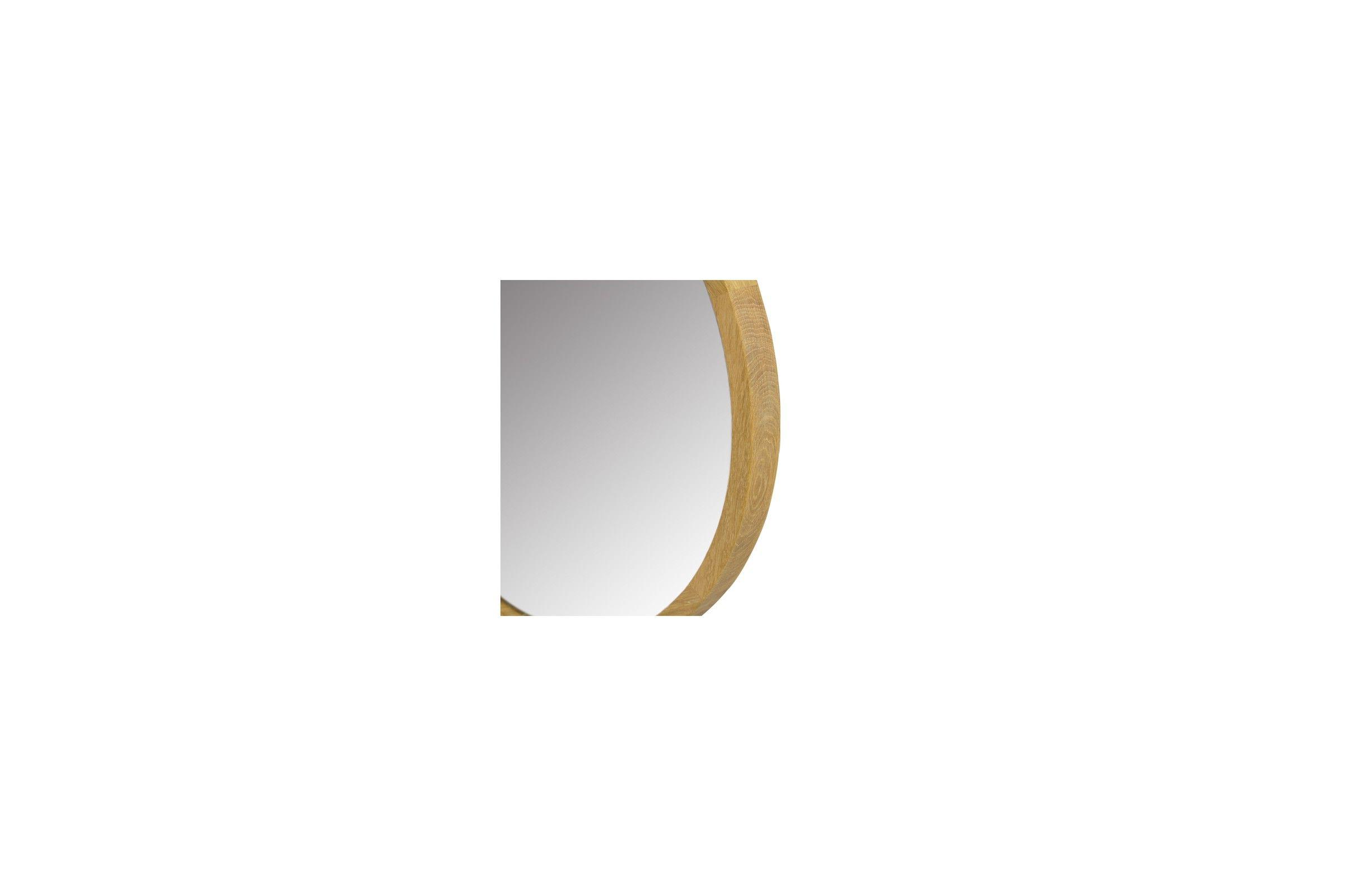 Miroir rond en teck massif diam tre 50 ou 80 cm la for Miroir rond en bois