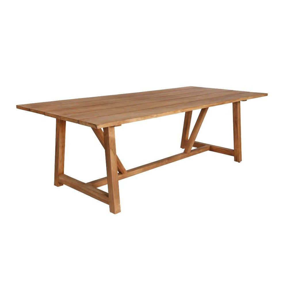 Table de jardin en teck ancien 240 cm la galerie du teck for Table de jardin en teck