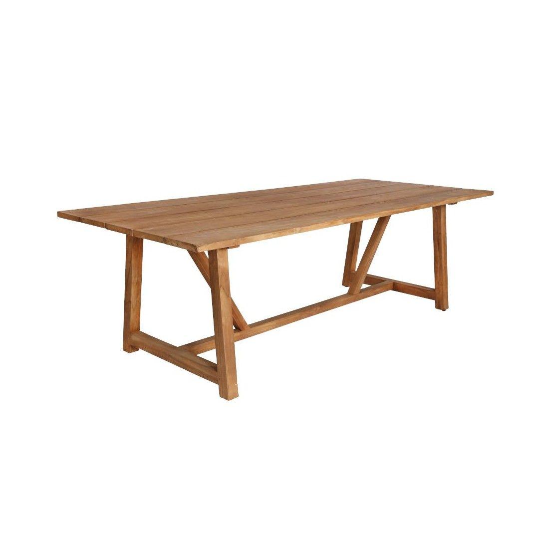 Table de jardin en teck ancien 240 cm