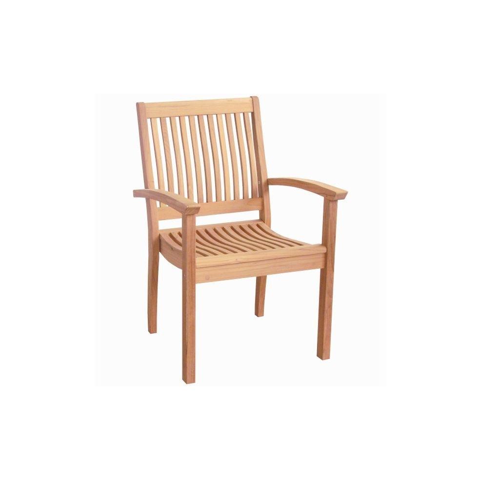fauteuil profond et empilable en teck massif ches la galerie du teck. Black Bedroom Furniture Sets. Home Design Ideas