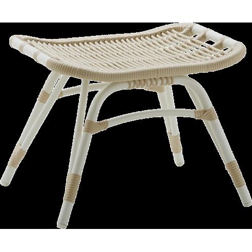 Repose pieds de jardin en alu-rotin, spécial extérieur, Monet de Sika Design