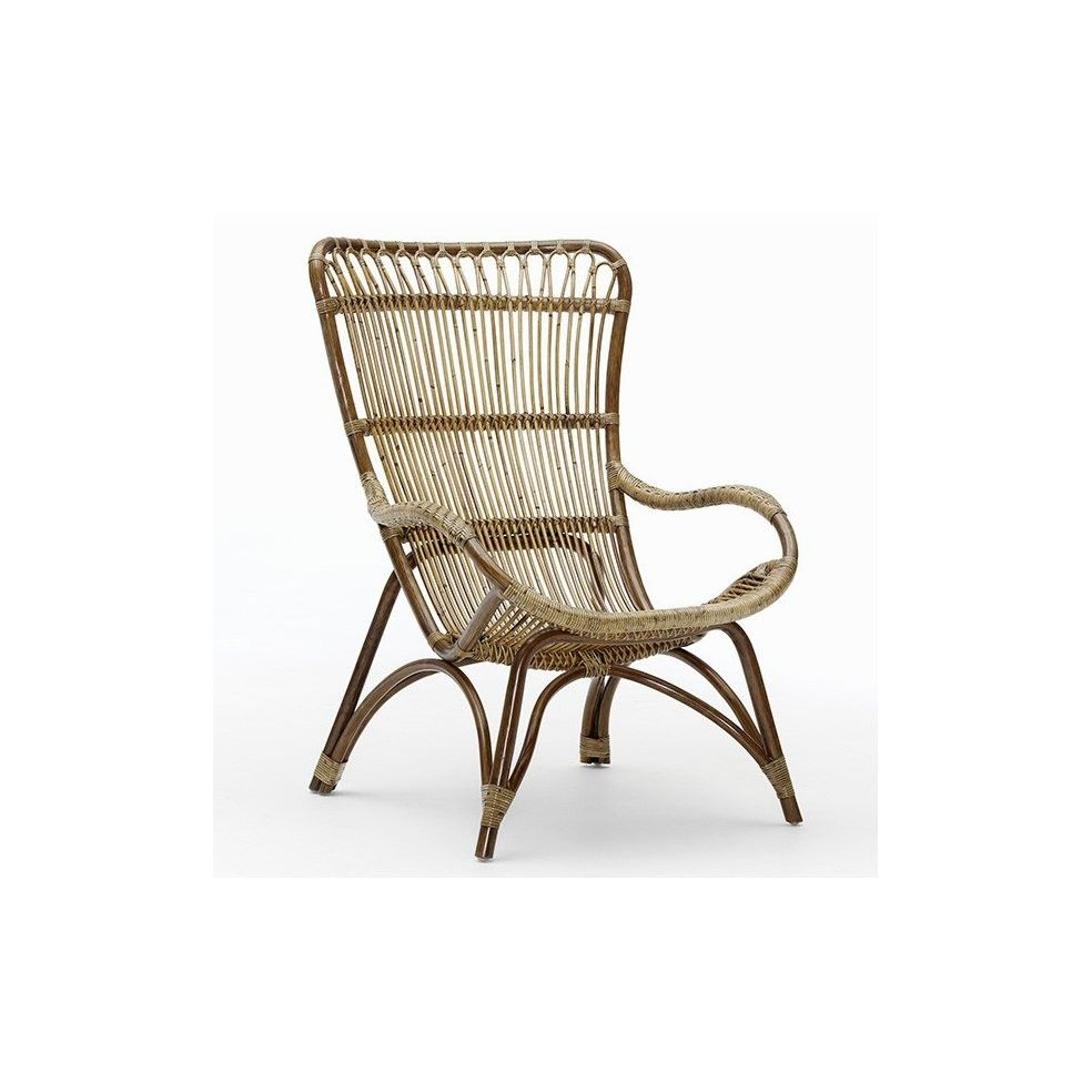Fauteuil en rotin naturel, Monet de Sika Design