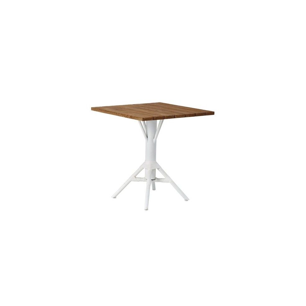 Table de bar carrée 70 cm en teck et alu, Sika Design