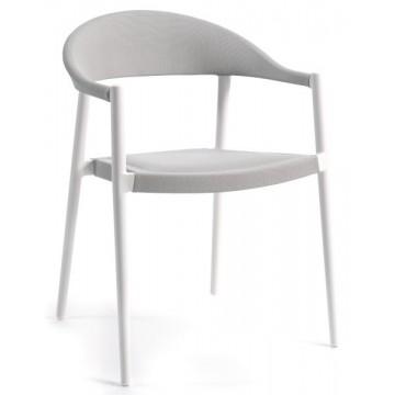 Chaise de jardin empilable en alu mat et textylène ou olefin, Mat