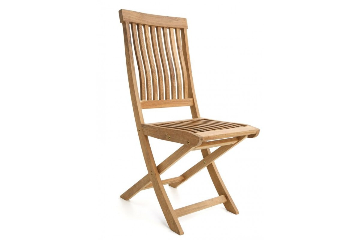 chaise pliante galb e teck massif mod le salou la galerie du teck. Black Bedroom Furniture Sets. Home Design Ideas