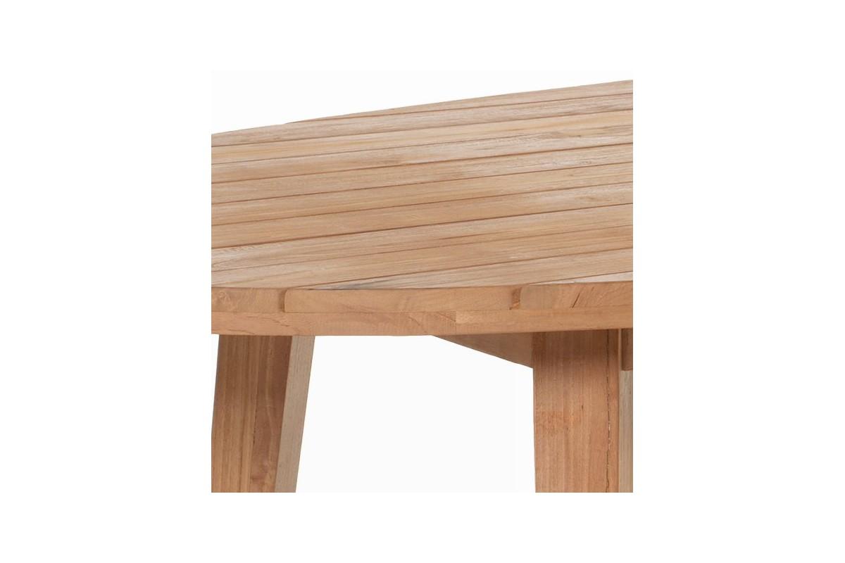 Table ovale de jardin en vieux teck massif mod le oakland for Modele galerie exterieure