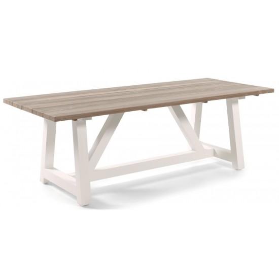 Table en teck massif et alu 220 cm, Cassano