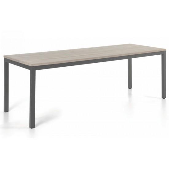 Table en teck massif gris délavé 220 cm, Siani
