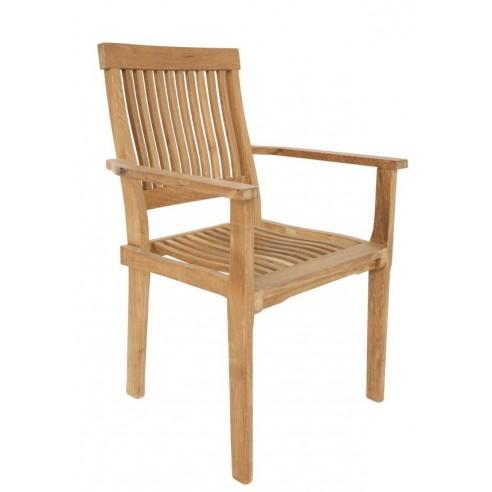 fauteuil en teck massif empilable la galerie du teck. Black Bedroom Furniture Sets. Home Design Ideas