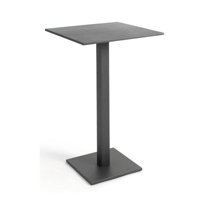 Table de bar 70x70 cm en alu blanc