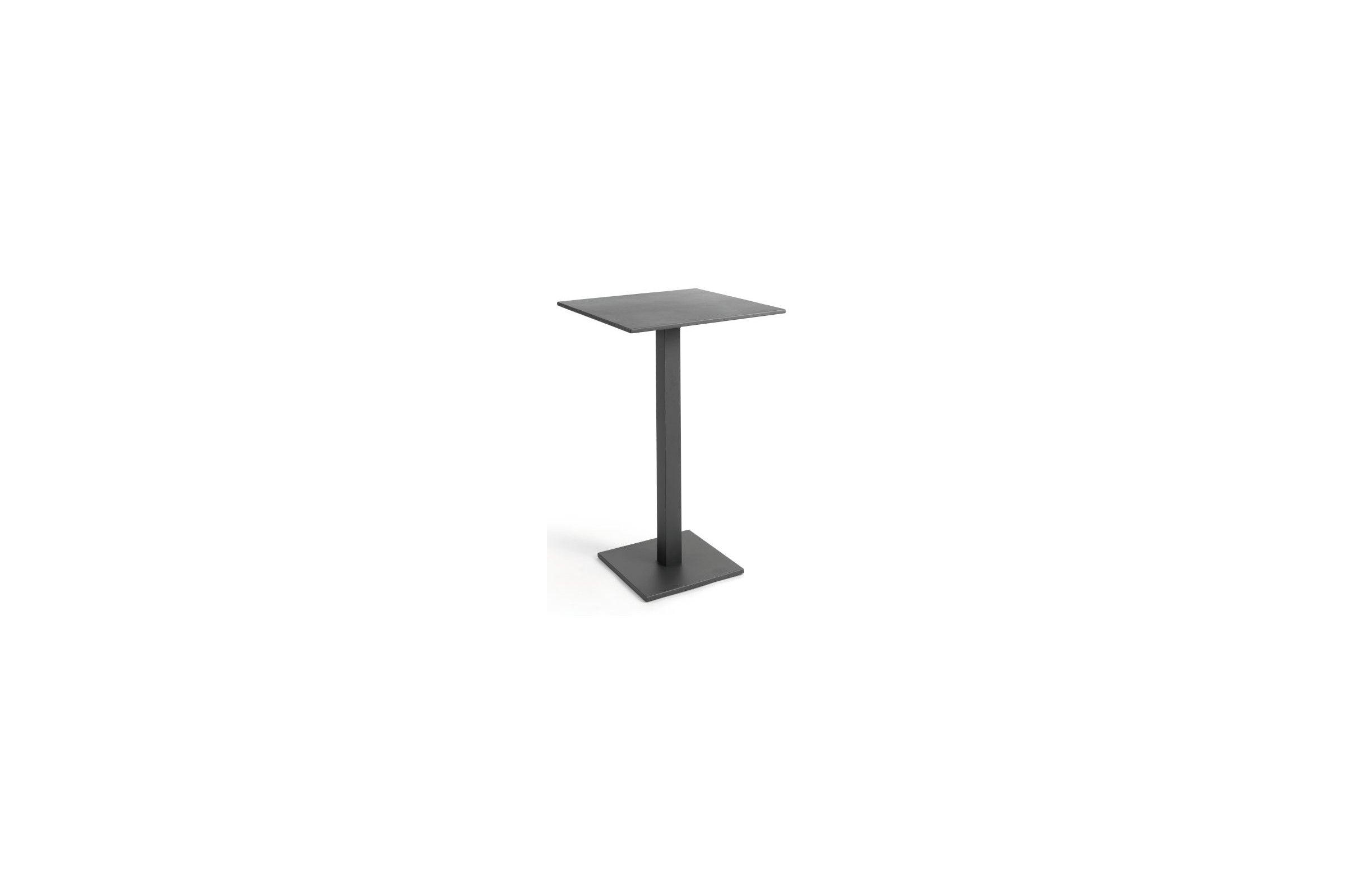 table de bar 70x70 cm en alu blanc ou charcoal repliable la galerie du teck. Black Bedroom Furniture Sets. Home Design Ideas
