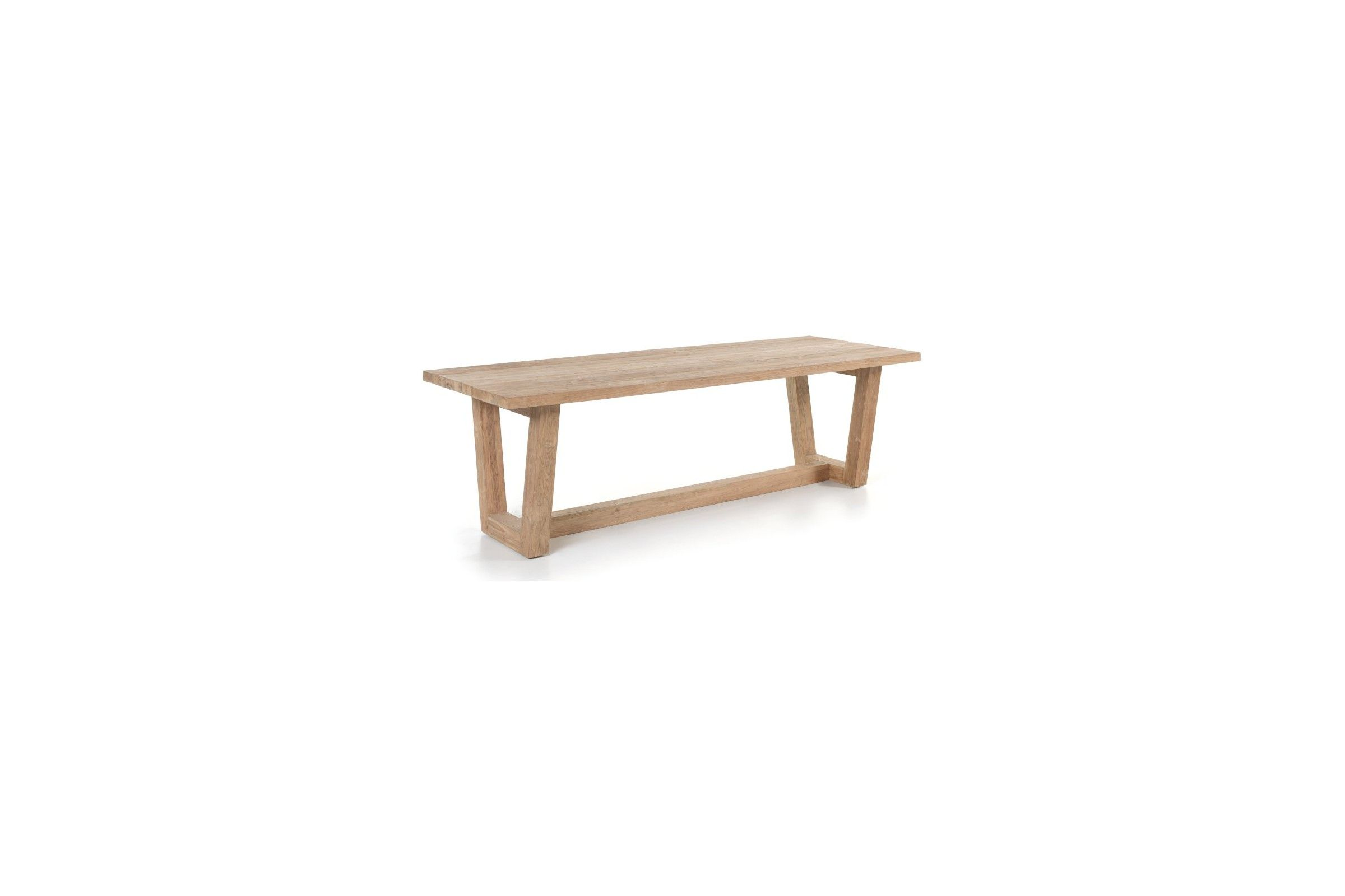 table en vieux teck massif 250 cm dundee la galerie du teck. Black Bedroom Furniture Sets. Home Design Ideas