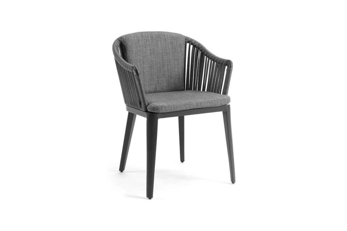fauteuil de jardin design en alu et tissu d perlant fab la galerie du teck. Black Bedroom Furniture Sets. Home Design Ideas