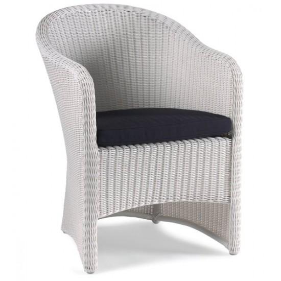 Chaise de jardin en résine tressée blanche, Corona