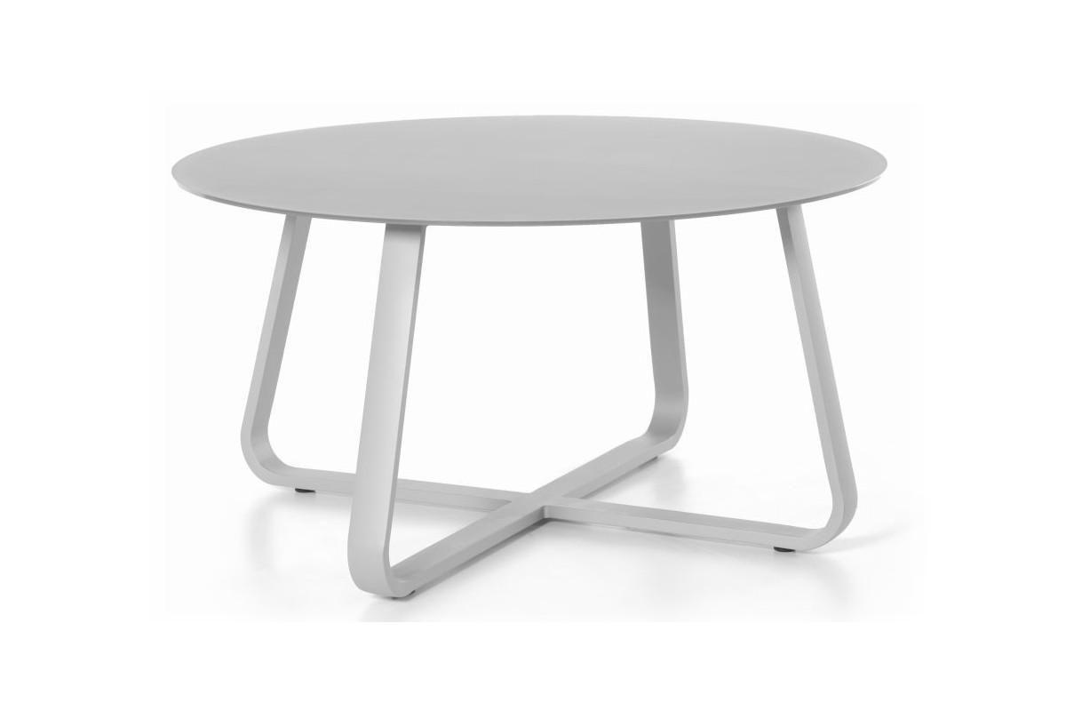 Table de jardin ronde d 150 cm, en alu et verre, FERRA
