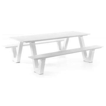 Table picnic en aluminium mat 220 cm, Lati
