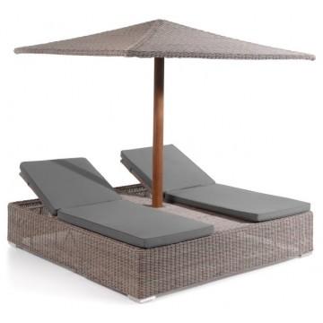 Double bain de soleil avec parasol