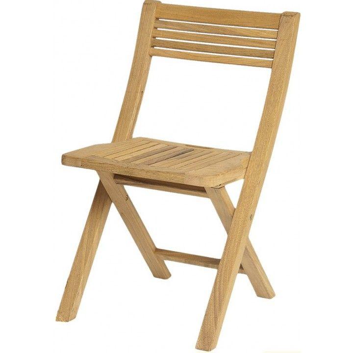 Chaise pliante en roble
