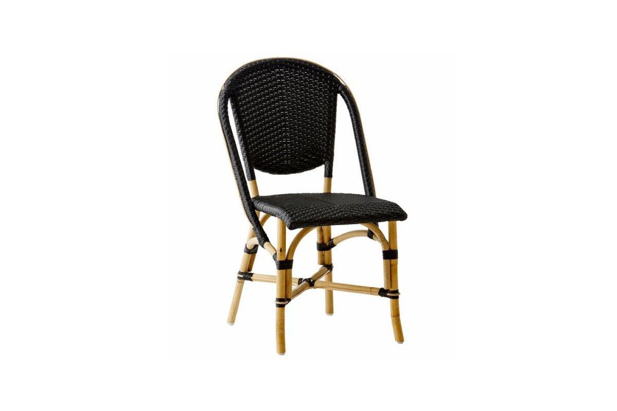 chaise de jardin en rotin naturel et r sine tress e empilable la galerie du teck. Black Bedroom Furniture Sets. Home Design Ideas