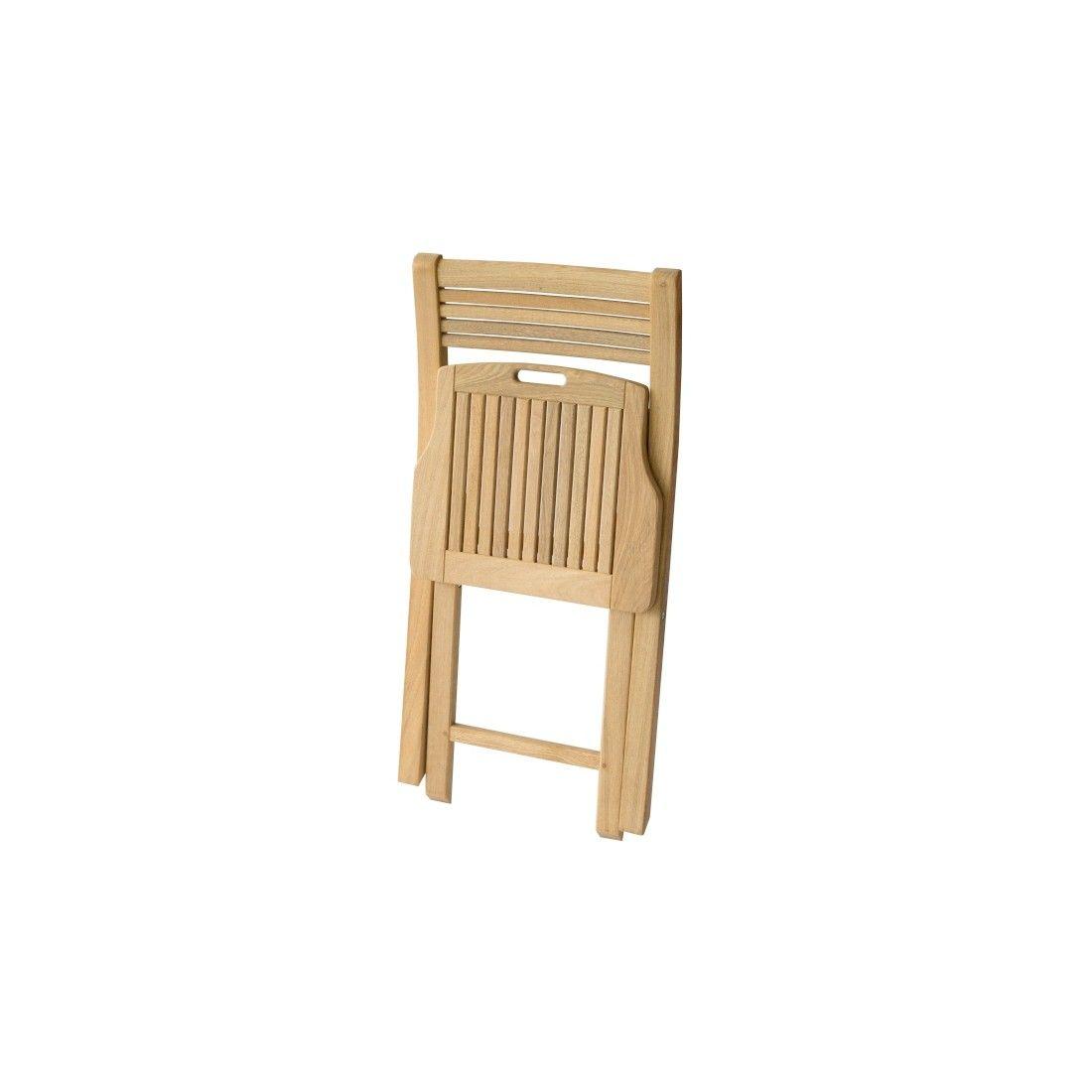Chaise de jardin pliante en bois de roble, robuste