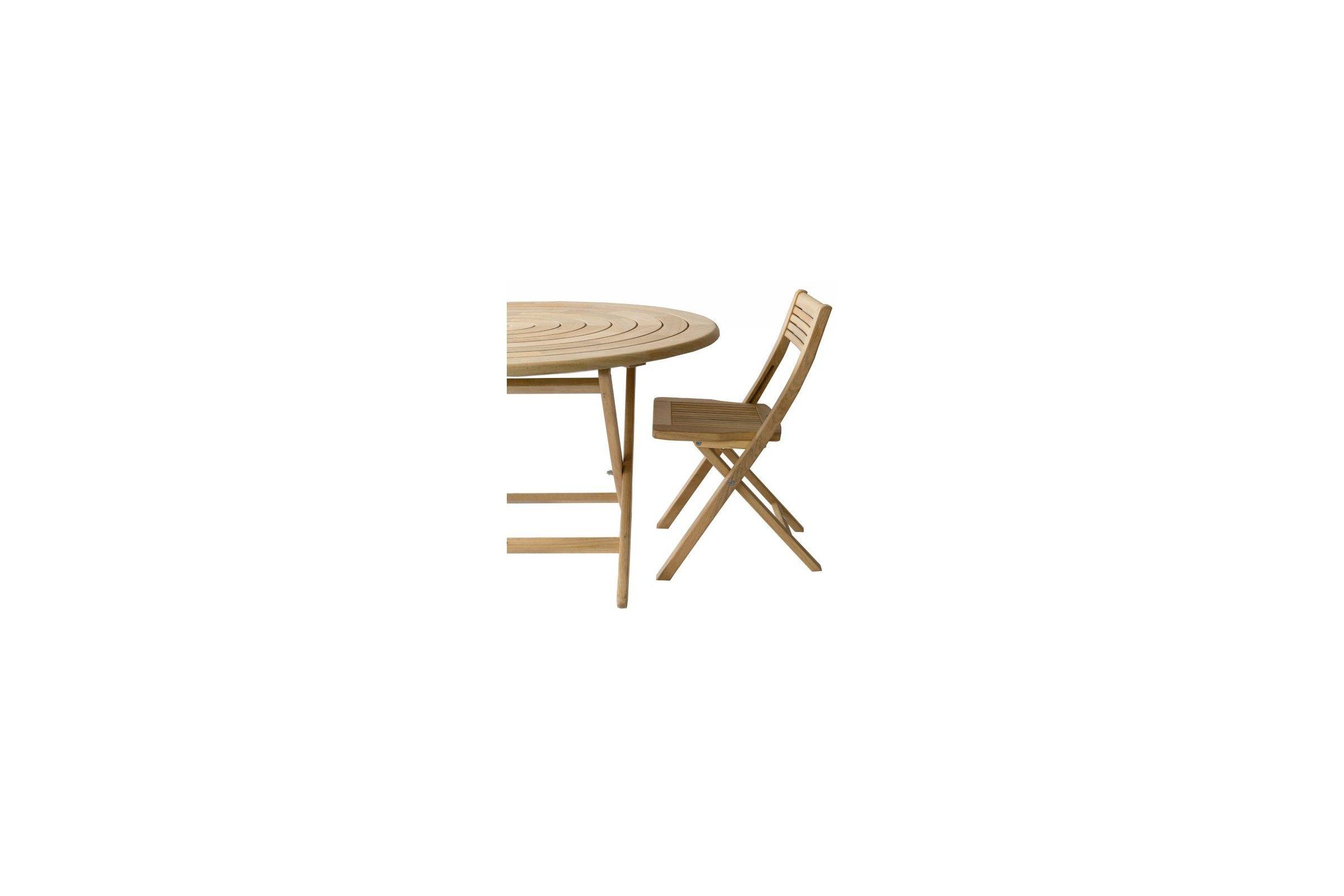 Table de jardin pliante et ronde 130 cm en bois massif haut de gamme - Table jardin pliante bois ...