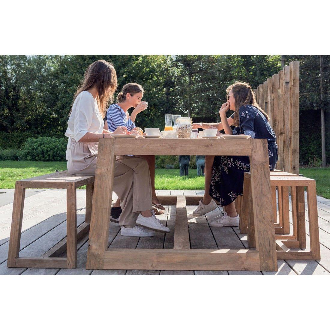 Grande table en teck recyclé Hermosa 300 cm