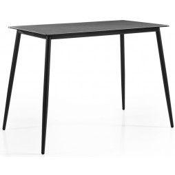 Table de bar en céramique et alu , 80 ou 150 cm, Luca