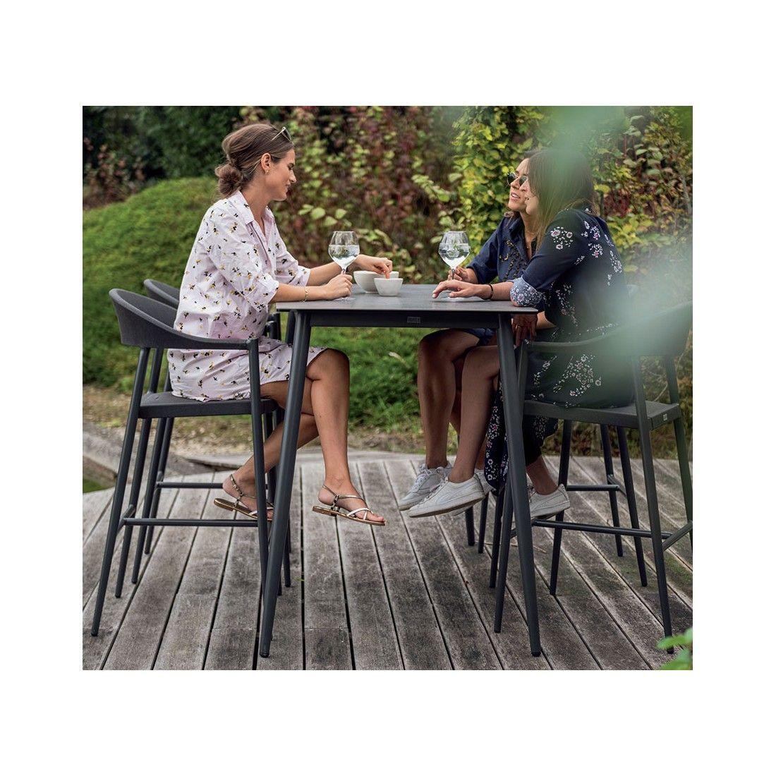 Table de bar en alu blanc ou charcoal, Luc