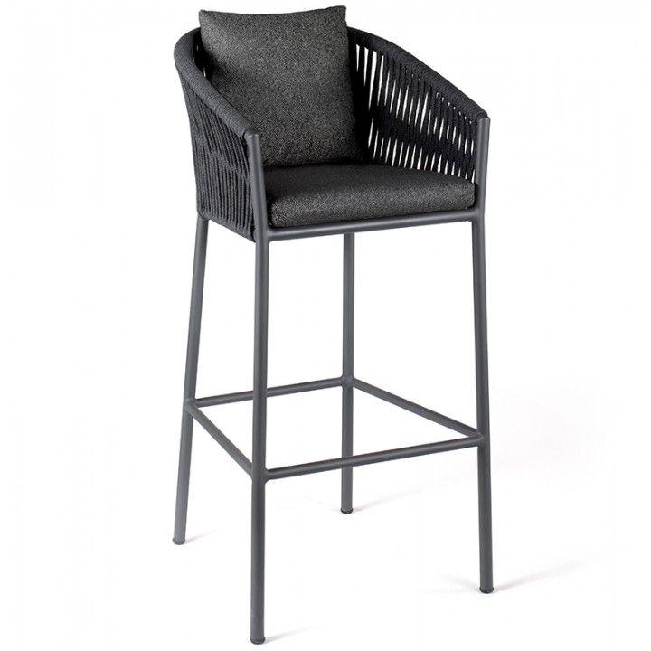 Chaise de bar haute avec coussin, Gabon