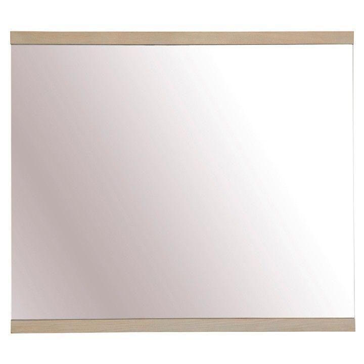 Miroir en chêne réversible 70 x 80 cm