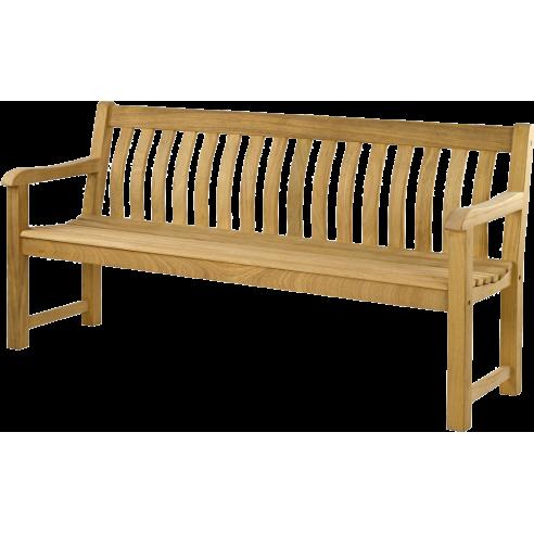 Banc de jardin en roble, 183 cm, George