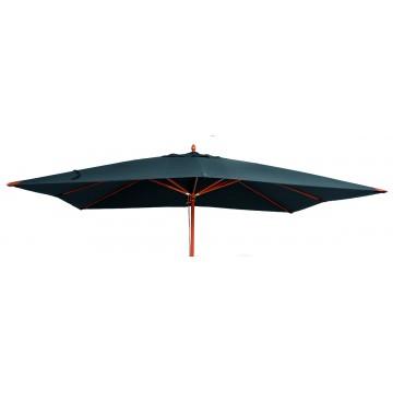 Parasol en bois rectangulaire 300 x 400 cm luxe