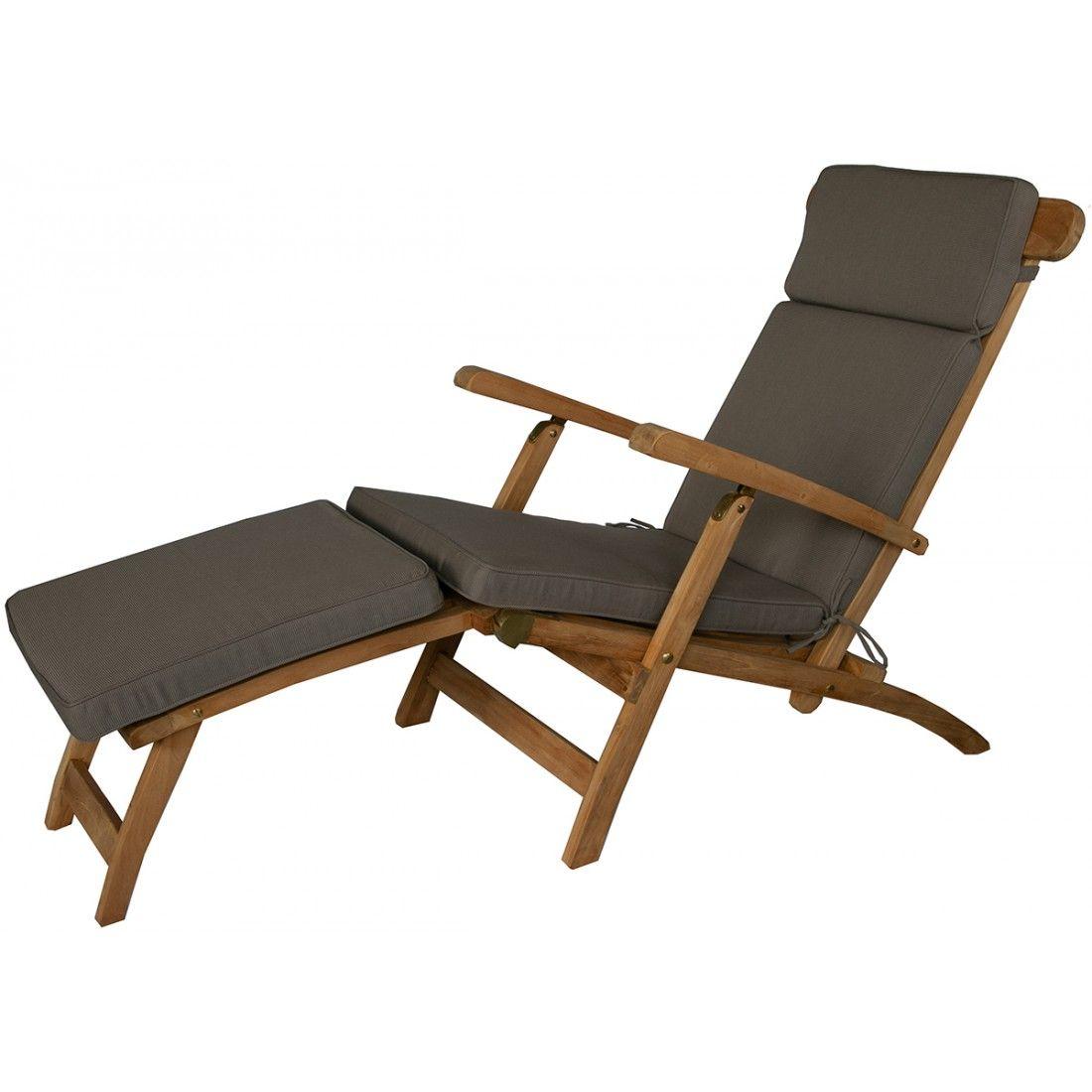 Coussin de chaise longue type steamer, déhoussable